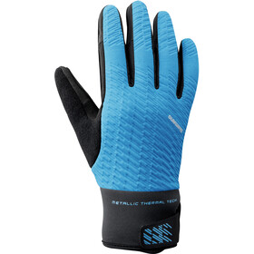 Shimano Windbreak Thermal Reflective Gloves Men blue
